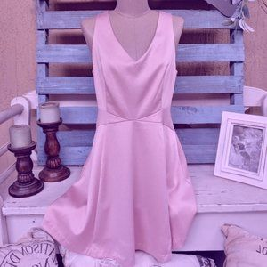 Pink silky dress mid thigh length Forever 21